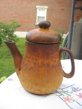 "#T7  LAURENTIAN POTTERY CANADA COFFEE POT 9"" IN TALL"