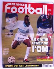 France Football du 18/11/1997; Ballon d'or la liste des 50/ Pires-Molinari
