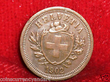 Switzerland 1902 B 1 Rappen Scarce Coin