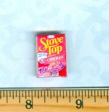 Dollhouse Miniatures  Size Chicken Stuffing Mix Box