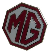 MG octagon lapel pin - Red/white 5/8 inch size