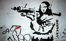 canvas A1 SIZE  BANKSY Graffiti Street Art Wall Decor Print MONA BAZOOKA