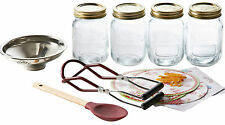 Kilner 10 Piece Jam Preserve Jar Starter Kit with labels lids funnel Jam Chutney