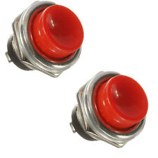 2X CAR IGNITION MOMENTARY PUSH BUTTON SWITCH 3A 125V OFF- ON HORN SPST STARTER