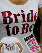 BRIDE TO BE Iron on T Shirt Transfer Hen Party Girls Night Out Accessories