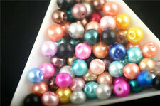 200pc Random Mixed Glass Pearl Round Loose Spacer Beads Making Jewelry Bracelet