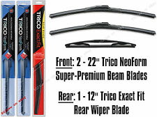 "Wiper Blades - 22"" Front & 12"" Rear - 3-Pack Wipers Trico 16-220x2/12-E"