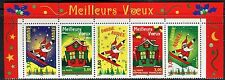 FRANCE 1998 CHRISTMAS/NEW YEAR/SANTA CLAUS/SKI/SNOW/PINE TREE/MOUNTAIN/HOUSE