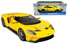 MAISTO SPECIAL EDITION 2017 FORD GT 1/18 DIECAST CAR YELLOW 31384YL