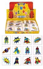 576 Super Hero Temporary Children's Tattoos Loot Bag Job Lot Asstd design UK SE