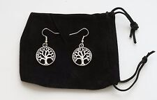 Genealogy Family Tree Earrings with FREE Velvet Bag and FREE Shipping