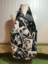 Elvis Presley Fabric Tote Bag Purse Black And White