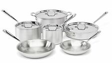 NEW All-Clad 700362 MC2 Professional Master Chef 10 Piece Cookware Silver Set