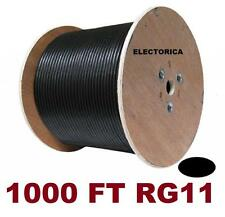 1000' RG-11 COAXIAL CABLE RG11 WIRE HD TV DTV SATELLITE ANTENNA COAX Aerial HDTV
