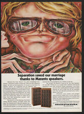 1974 MARANTZ Imperial 5G 2-Way Speaker - Seperation Saved My Marriage VINTAGE AD