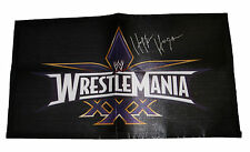 WWE WRESTLEMANIA 30 HULK HOGAN SIGNED BANNER WITH COA