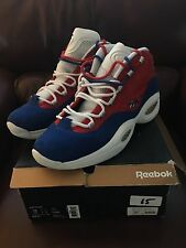 Reebok Question AI Mid Banner Royal/Red/White-Gold New/DS Sz 15