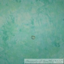 BonEful Fabric FQ Cotton Quilt VTG Green Teal Tonal Crystal Water Stripe Texture