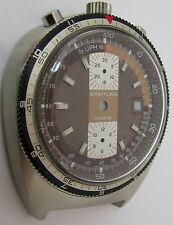 bullhead Breitling s. steel case 7101 & dial ... for parts or project ...
