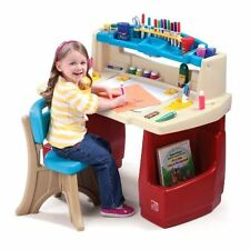 Step2 Deluxe Art Master Desk Paint Table Play New Activity Chair Storage , New