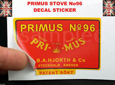 PRIMUS STOVE No96 REPLACEMENT DECAL KEROSENE STOVE