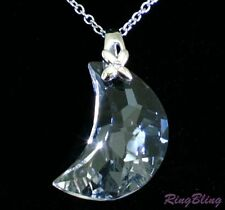 REDUCED! CRYSTAL MOON NECKLACE! STUNNING BRANDED AUSTRIAN CRYSTAL MOON PENDANT!