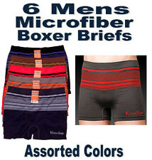 6pk Mens Seamless Boxer Briefs Microfiber Underwear Knocker A MS031 Special