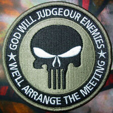 PUNISHER INFIDEL TACTICAL ACU 3.5 INCH EMBROIDERED Camo Green HOOK PATCH