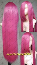COS Rosario Vampire cosplay wigs long 100cm wig straight Wigs+ hairnet
