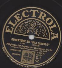 Staatsoper Berlin Leo Blech 1928 : Ouvertüre zu Fra Diavolo