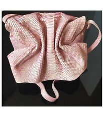 Authentic Carlos Falchi Python Flap Pink Python Skin Leather Bag Purse Crossbody