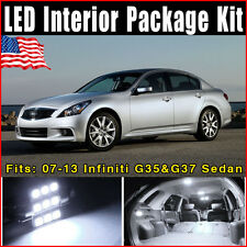 11 X White SMD Lights Interior Package Deal Fit: 2007-2013 Infiniti G37 Sedan