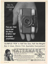 Olympus Pen EE Camera Advertisement, 1963: Original Vintage Ad