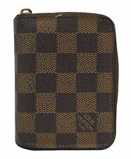 Authentic Louis Vuitton Damier Ebene Zippy Coin Purse TT758