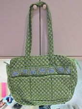 VERA BRADLEY APPLE GREEN PATTERN HARD TO FIND BABY DIAPER BAG