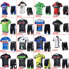 New outdoor team wear cycling jersey and shorts set, 3 pockets in the back 2016