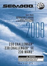 Sea-Doo Owners Manual Book 2008 230 CHALLENGER, 230 CHALLENGER SE & 230 WAKE