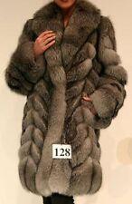 BRAND NEW INDIGO FOX FUR JACKET COAT FOR WOMEN SZ ALL