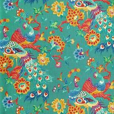 Richloom PREEN PEACOCK Teal Floral Home Decor Drapery Upholstery Sewing Fabric