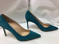 MANOLO BLAHNIK BB SUEDE POINT TOE PUMPS PUMPS  sz 37 MRSP $595