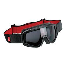 BILTWELL OVERLAND GOGGLES - BLACK & RED **WORLDWIDE SHIPPING**