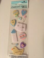 Baby Felt Diaper Bottle Rattles Creative Touch Stickers Scrapbooking Crafts