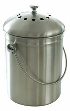 Simply Color Compost Bin Stainless Steel With Charcoal Filter & Instructions