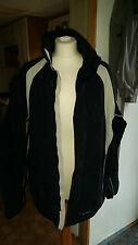 Men's Black & White Bike Jacket ~ Size XL Angelo Litrico