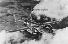 "North American B-25 Mitchell Bomber in flight 13""x 19"" WWII Poster Photo 481"