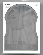 2011 Topps Finest Michael Young Black Printing Press Plate #ed 1/1 1 of 1