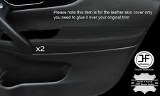 BLACK STITCH 2X FRONT DOOR ARMREST LEATHER COVERS FITS NISSAN QASHQAI J11 13-16