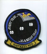 GRUMMAN E-2 E-2C HAWKEYE EVERY NIGHT TRAP US NAVY VAW- Squadron Jacket Patch