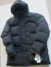 New Nautica Men's True Down Winter Puffer Quilted Jacket Coat w/ Hood Black  S