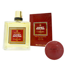 GUERLAIN HABIT ROUGE 200ML EAU DE COLOGNE POUR HOMME SPLASH OLD VERSION MAODF1